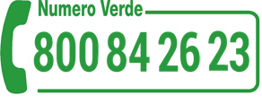 Toll free number  800 842623 (from Italy only)