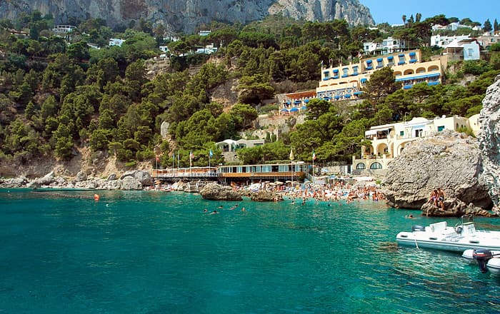 Capri hotel with a panoramic pool over the Faraglioni